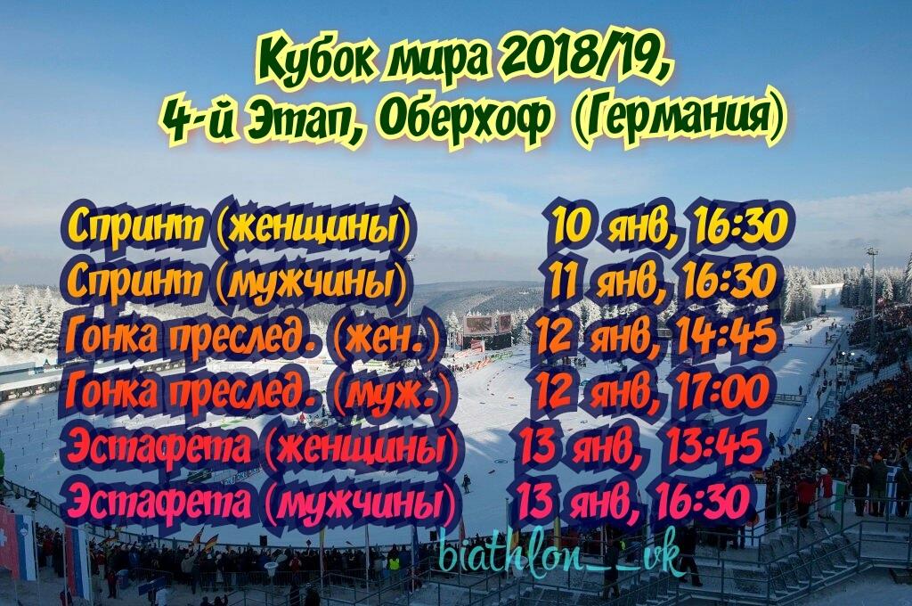 Расписание биатлона на сегодня 11,01.2019 — мужской спринт
